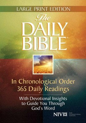 Niv - The Daily Bible Chronological Order - Large Print