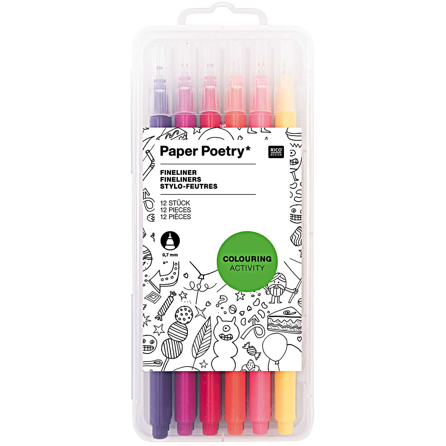 Paper Poetry - Fineliner Set of 12