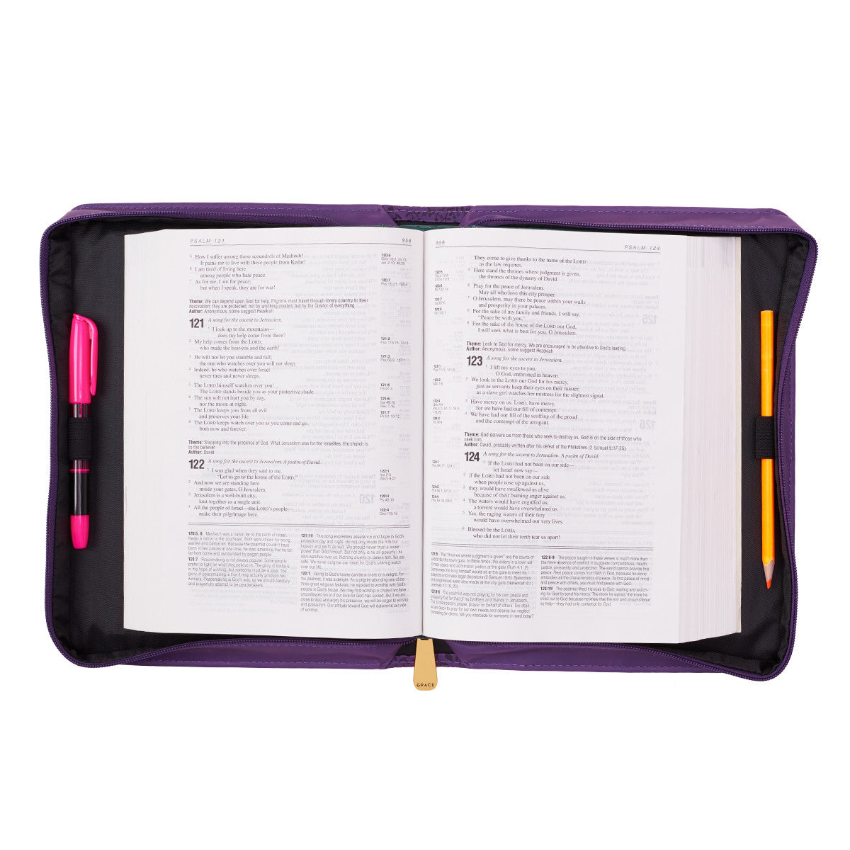 CAG Bible Cover Purple - I can do All Things