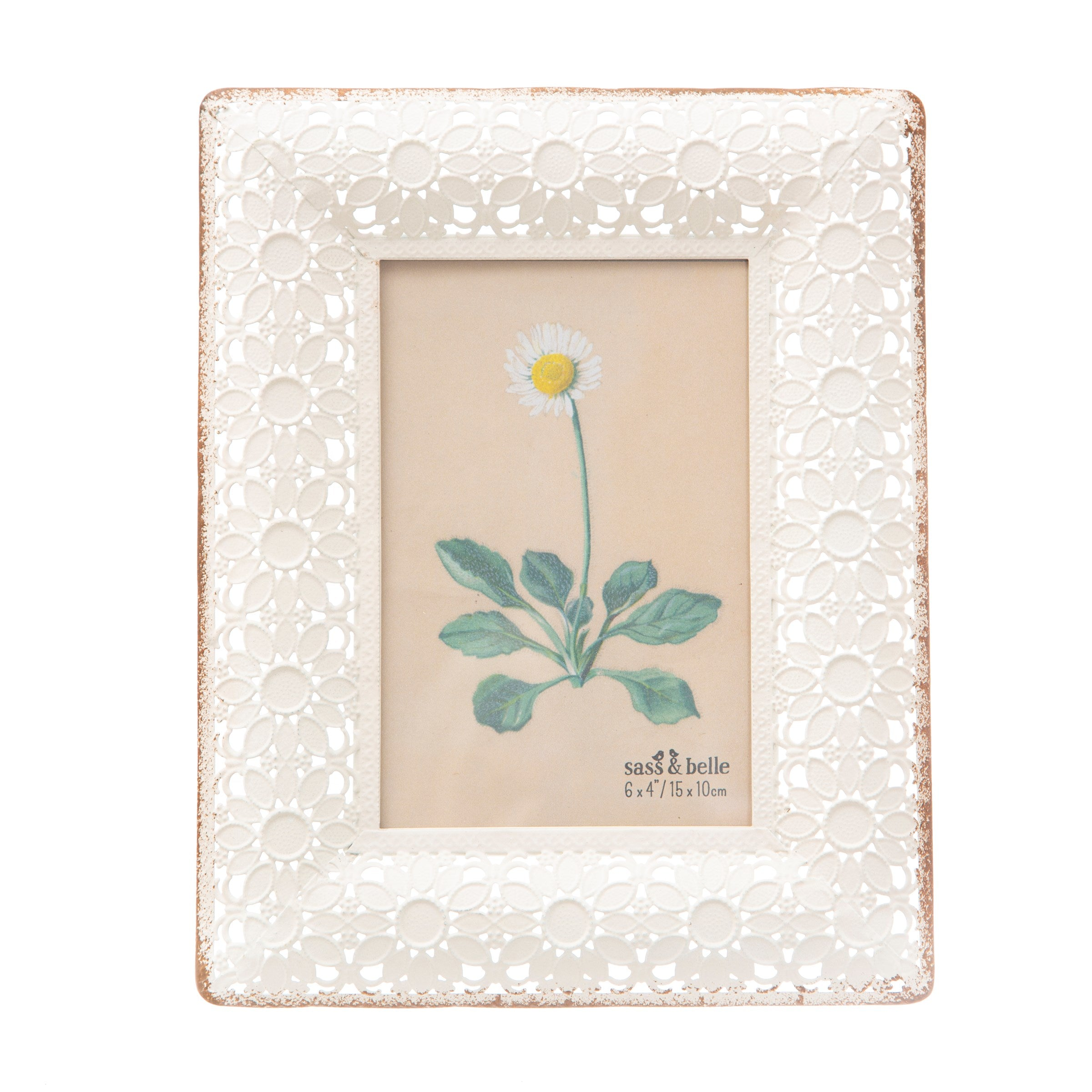 Sass & Belle Photo Frame - Floral White or Green
