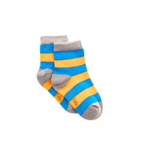 Polly & Andy Bamboo Childrens Socks - Blue and Orange