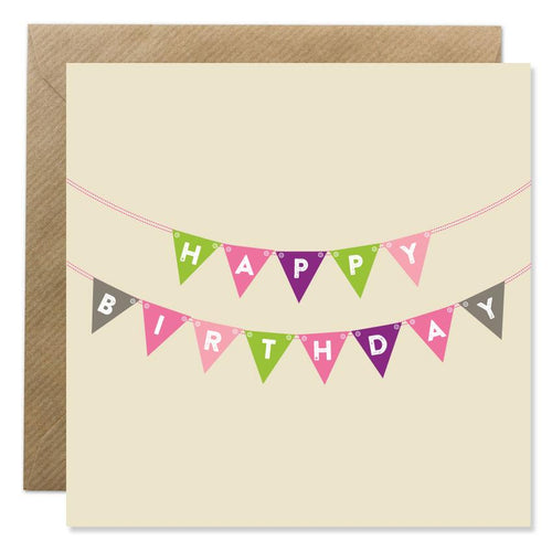 Bold Bunny - Happy Birthday Bunting
