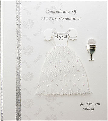 Communion Card Handcrafted Square - Boy or Girl