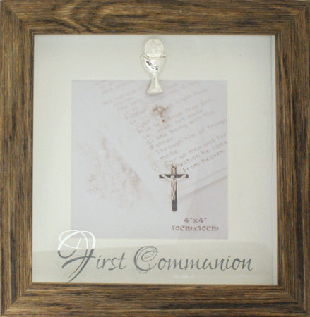 CBC Communion Photo Frame - Wood Finish