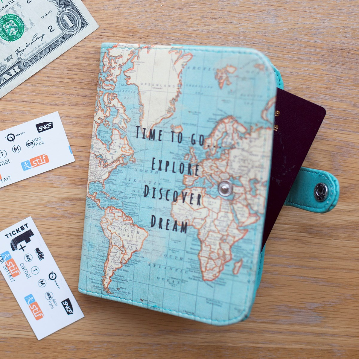 Sass & Belle Vintage Map Travel Accessories