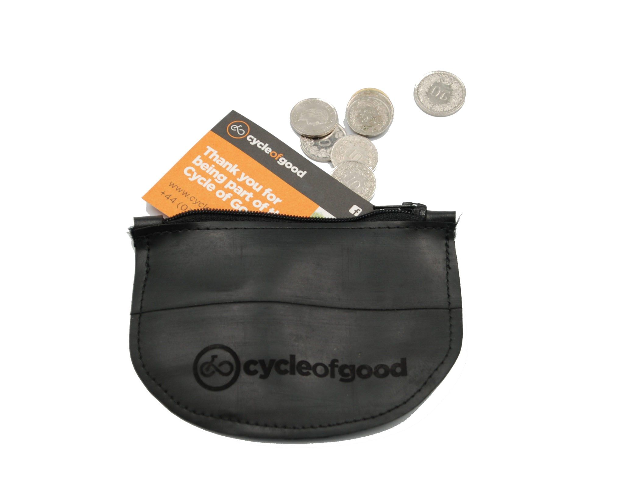 Cycle of Good - Coin Purse made from bike inner Tube