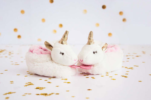 Doudou Booties - Unicorn with Rattle