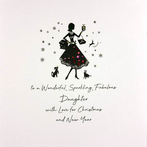 Luxury Extra Large Christmas Card - Daughter
