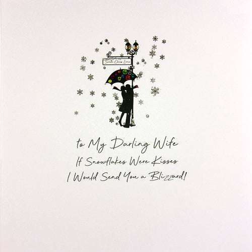 Luxury Extra Large Christmas Card - Darling Wife