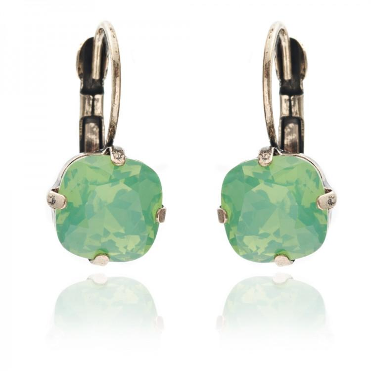 Lovett & Co - Cushion Cut Stone Earrings - Various Colours