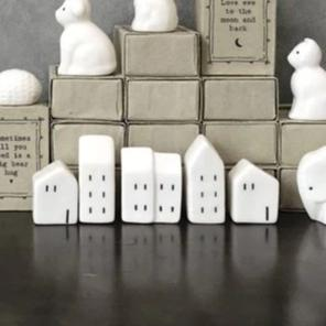 East of India - Porcelain Matchbox Sentiments - Houses