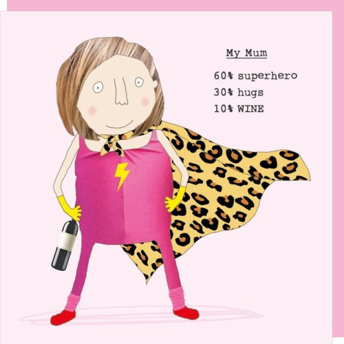 Rosie Made a Thing Card - Supermum