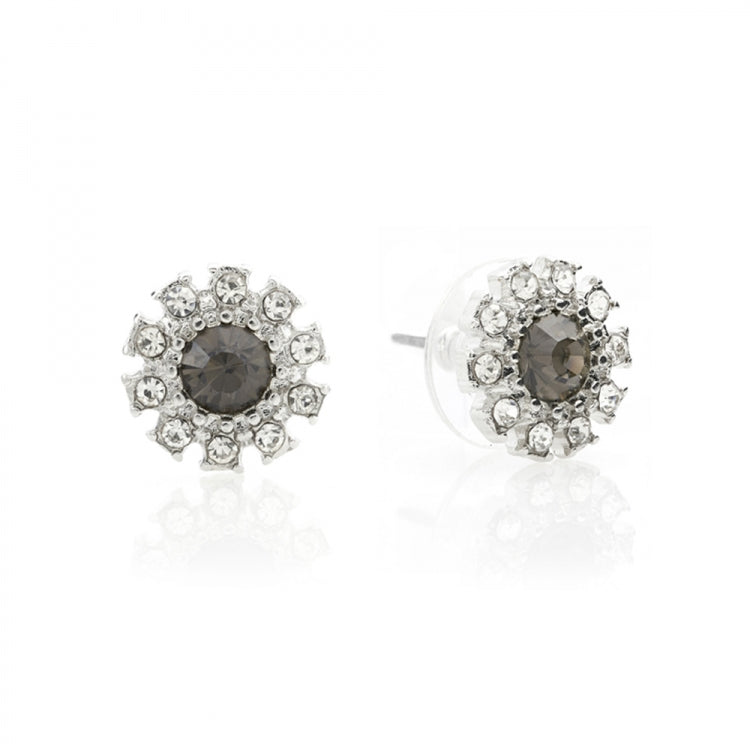 Lovett Grace Crystal Earrings - Black Diamond or Pearl