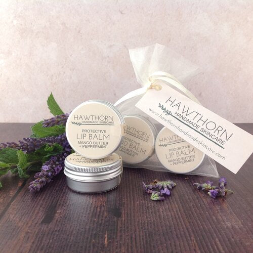 Hawthorn Handmade Skincare - Hand and Lip Balm Gift bag Set