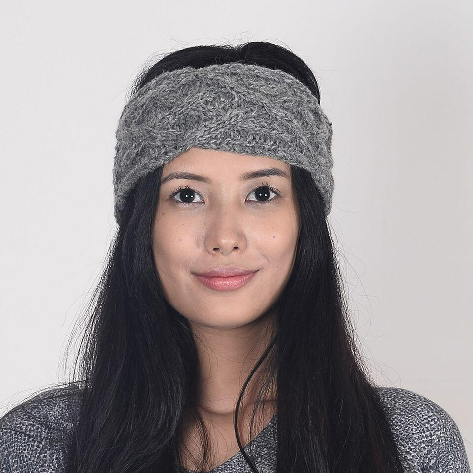Aura Que - PESHA Handknit Unisex Ear Warmer - Dark Grey, Grey or Cream