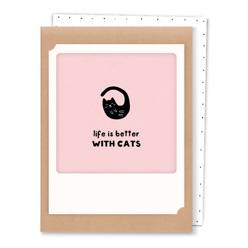 Pickmotion Mini-Card - Life is Better with Cats