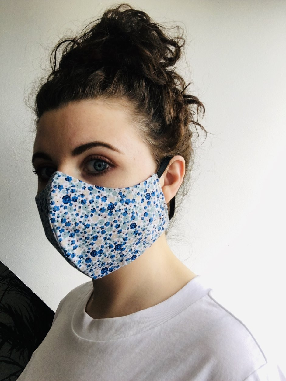 Face It! Irish Made - Ladies Face Mask - Blue Pattern