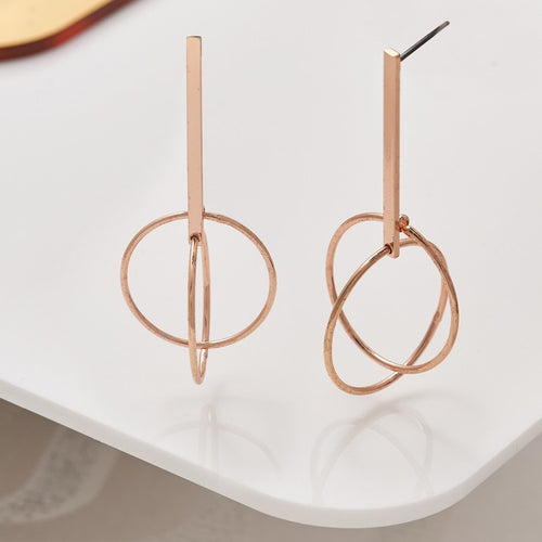 Love Luxe Earrings - Double Hoop - Rose Gold or Silver
