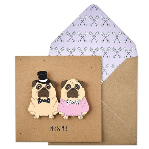 Tache Craft Kraft - Mr & Mr Wedding Pugs