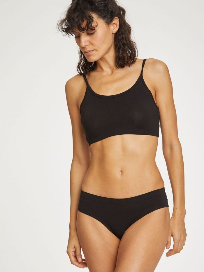 Thought Clothing - Leah Bikini BRIEFS - Black