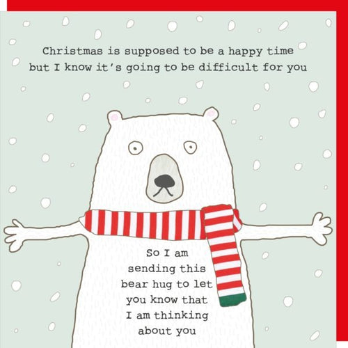 Rosie Made a Thing Christmas Card - Bear Hug