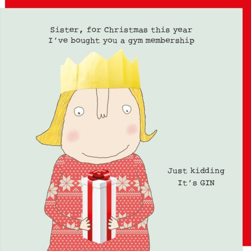 Rosie Made a Thing Christmas Card - Sister