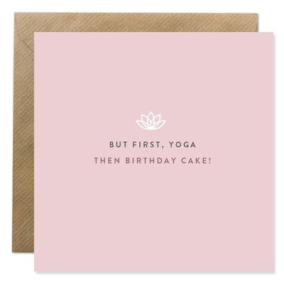Bold Bunny - But first Yoga, then Birthday Cakte