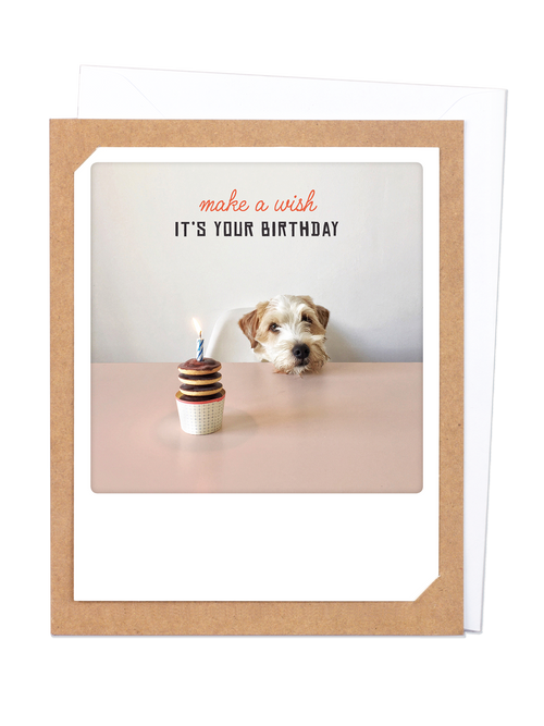 Pickmotion Photo-Card - Make a Wish Dog