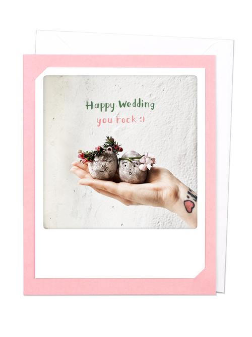 Pickmotion Photo-Card - Happy Wedding - You Rock