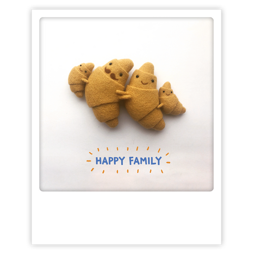 Pickmotion Photo-Card - Family Croissants