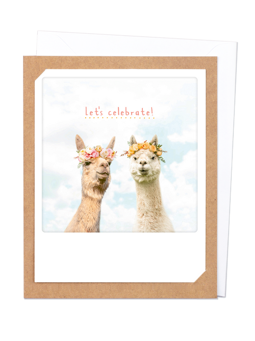 Pickmotion Photo-Card - Celebrating Llama