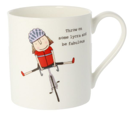 Rosie Made A Thing Mug - Throw On Some Lycra And Be Fabulous
