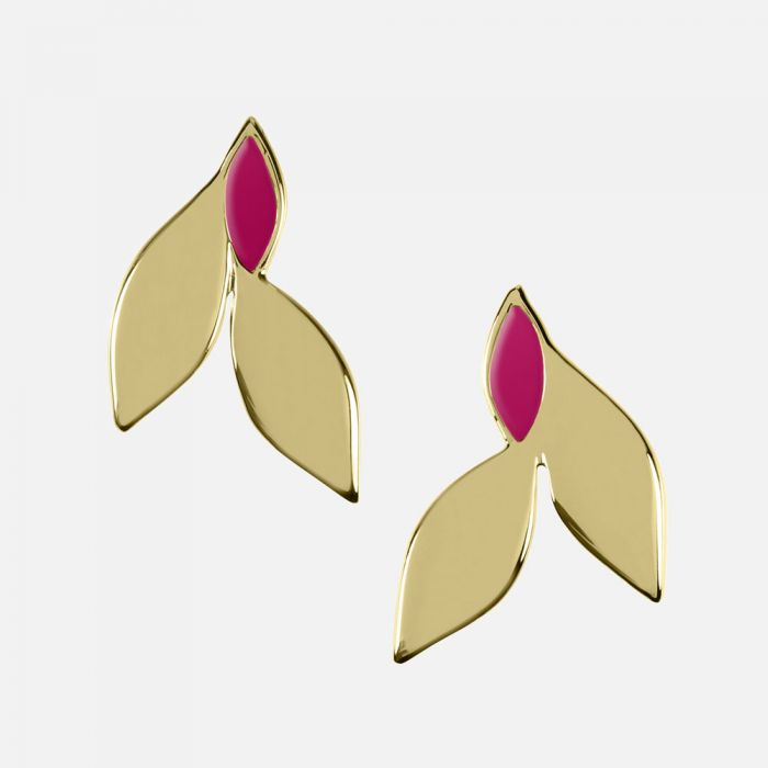 Sara Miller Jewellery - Azura Leaf Studs - White, Green or Pink
