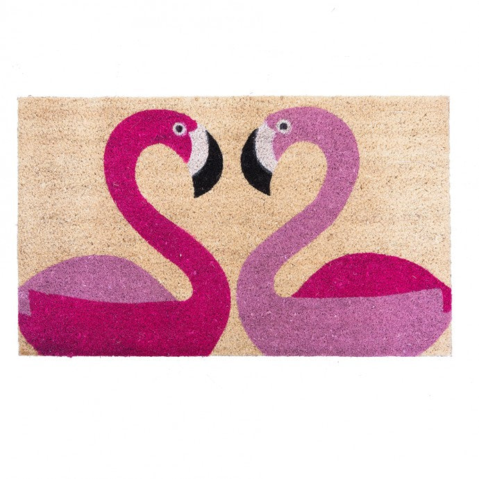 Bombay Duck Door Mat - Flamingoes