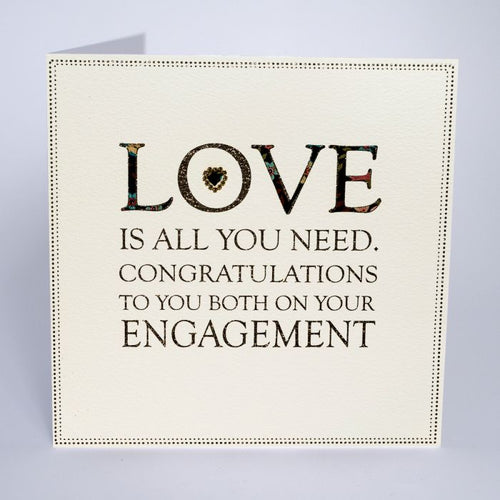Luxury Extra Large Card - Love is all you Need