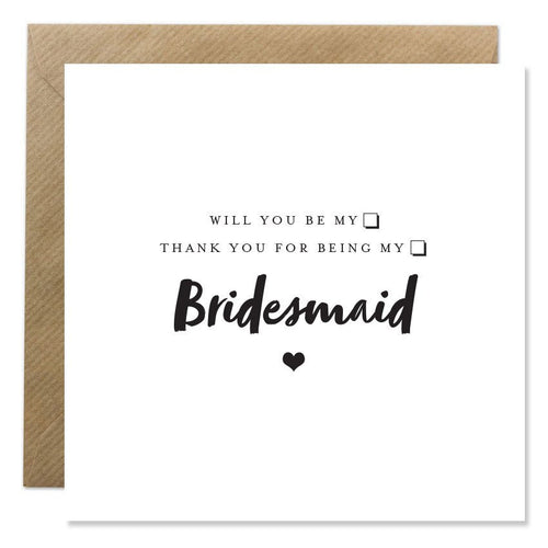 Bold Bunny - Bridesmaid Invite or Thank You