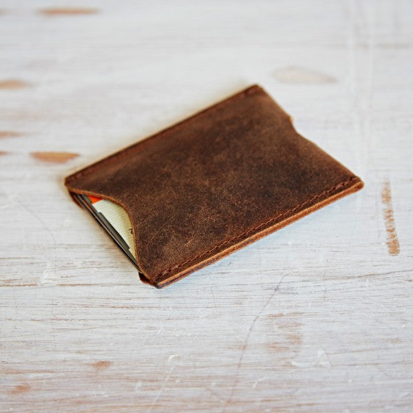 Paper High - Buffalo Leather Travel Card