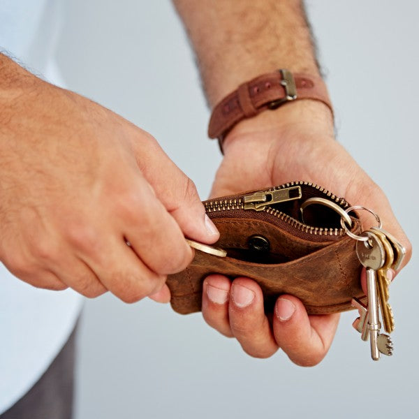 Paper High - Buffalo Leather Purse Keyring