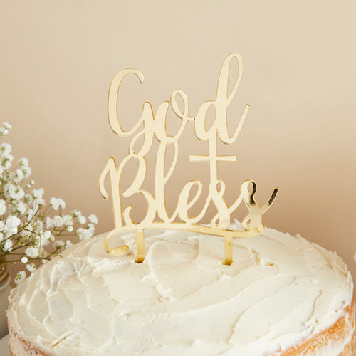 Hootyballoo Communion - Cake Topper - God Bless