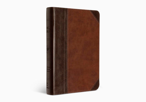 ESV - TruTone Compact Bible - Large Print Brown/Walnut
