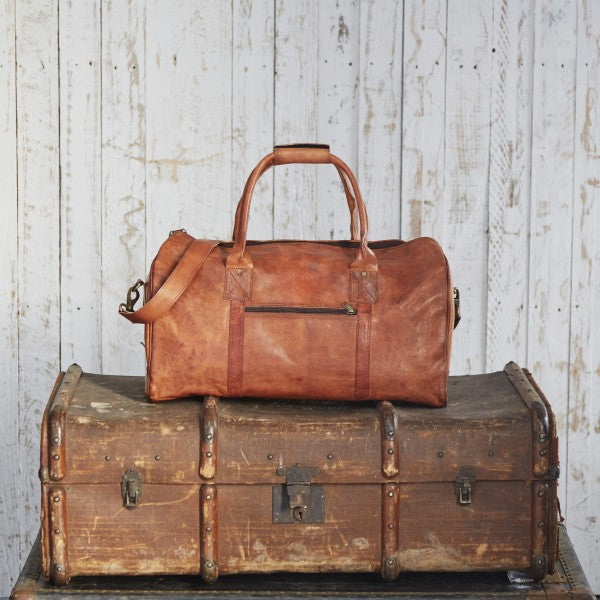 Paper High - Leather Duffle Bag
