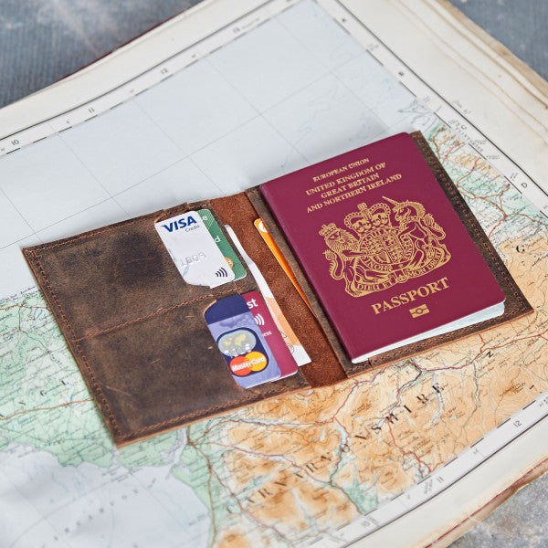Paper High - Buffalo Leather Passport Holder