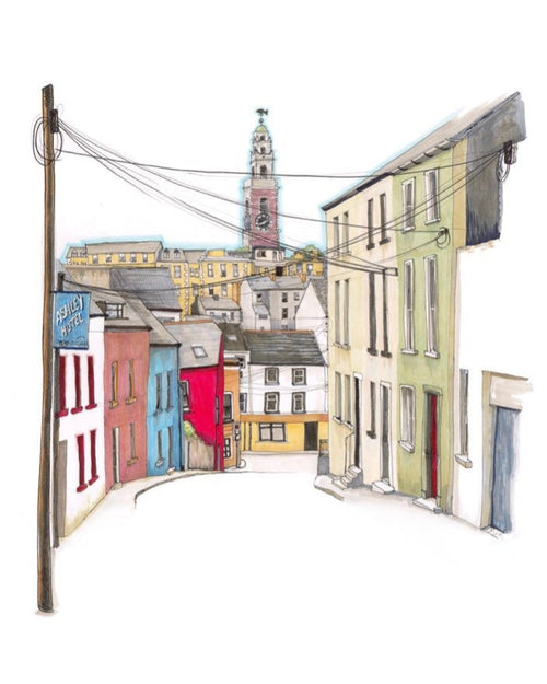 CorkIDoodleDo - Shandon from Hardwick St, Cork City