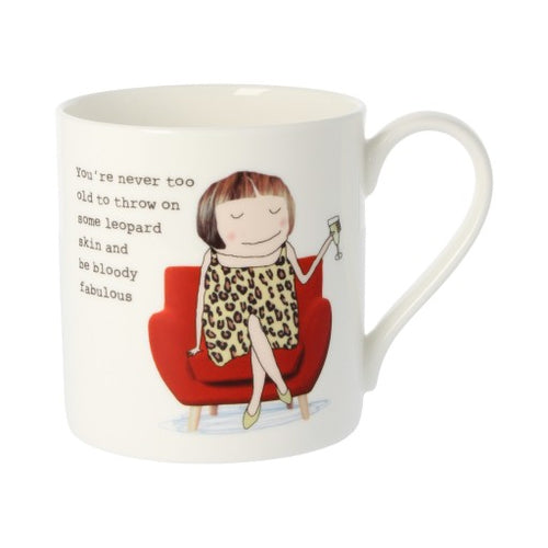 Rosie Made a Thing Mug - Leopard Skin