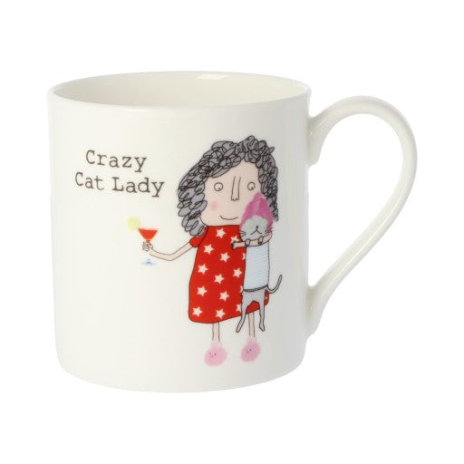 Rosie Made a Thing Mug - Crazy Cat Lady