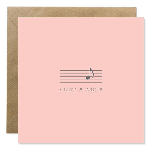 Bold Bunny - Just a Note (Pink)