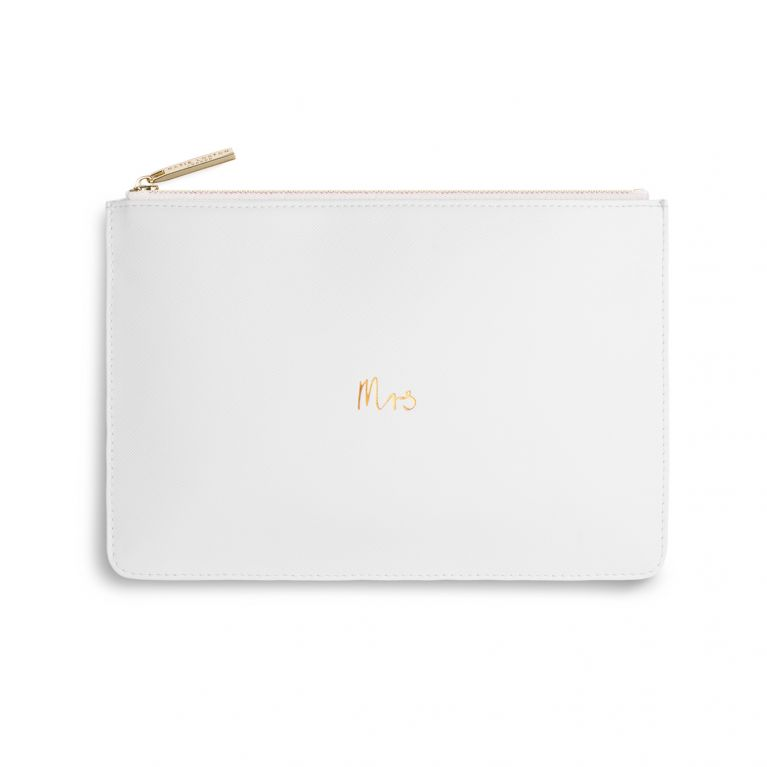 Katie Loxton Perfect Pouch - MRS  (Chalky White)