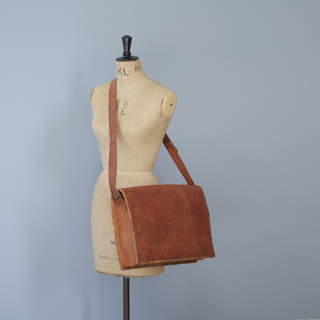 Paper high - Brown Leather Bag Large