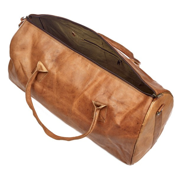 Paper High - Leather Duffle Gym Bag