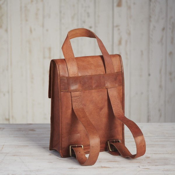 Paper High - Leather Satchel Rucksack